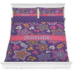 Simple Floral Comforter Set (Personalized)
