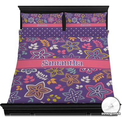 Simple Floral Duvet Cover Set (Personalized)