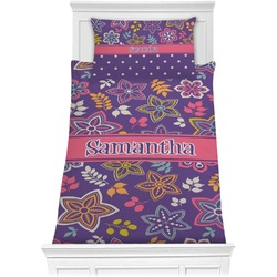 Simple Floral Comforter Set - Twin XL (Personalized)