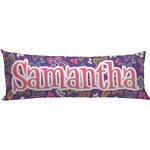 Simple Floral Body Pillow Case (Personalized)
