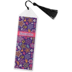 Simple Floral Book Mark w/Tassel (Personalized)