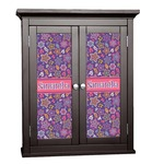 Simple Floral Cabinet Decal - Custom Size (Personalized)