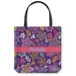 Simple Floral Canvas Tote Bag (Personalized)