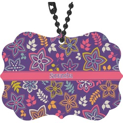 Simple Floral Rear View Mirror Decor (Personalized)