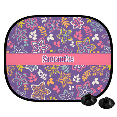 Simple Floral Car Side Window Sun Shade (Personalized)