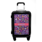 Simple Floral Carry On Hard Shell Suitcase (Personalized)