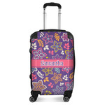 Simple Floral Suitcase (Personalized)