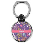 Simple Floral Cell Phone Ring Stand & Holder (Personalized)