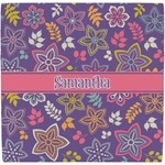 Simple Floral Ceramic Tile Hot Pad (Personalized)