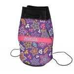 Simple Floral Neoprene Drawstring Backpack (Personalized)