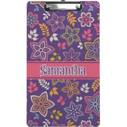 Simple Floral Clipboard (Legal Size) (Personalized)