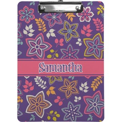 Simple Floral Clipboard (Personalized)