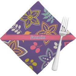 Simple Floral Napkins (Set of 4) (Personalized)