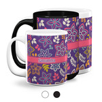 Simple Floral Coffee Mugs (Personalized)