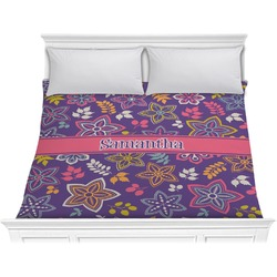Simple Floral Comforter - King (Personalized)
