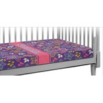 Simple Floral Crib Fitted Sheet (Personalized)