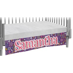 Simple Floral Crib Skirt (Personalized)