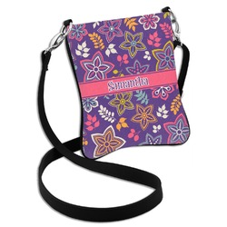 Simple Floral Cross Body Bag - 2 Sizes (Personalized)