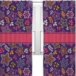 Simple Floral Curtains (2 Panels Per Set) (Personalized)