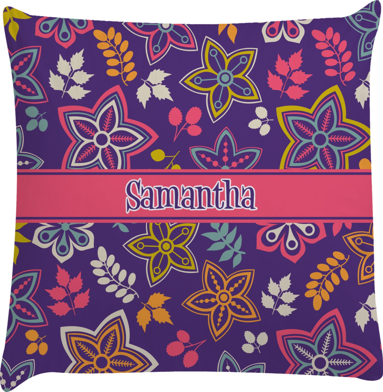 Simple Floral Decorative Pillow Case (Personalized) - YouCustomizeIt