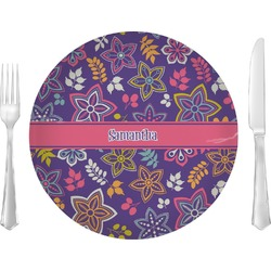 Simple Floral Glass Lunch / Dinner Plates 10