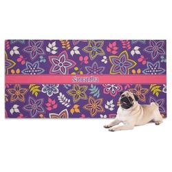Simple Floral Pet Towel (Personalized)