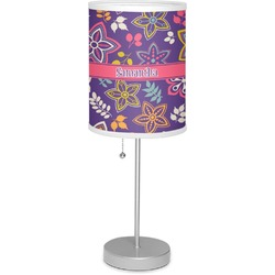 "Simple Floral 7"" Drum Lamp with Shade (Personalized)"