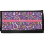 Simple Floral Canvas Checkbook Cover (Personalized)