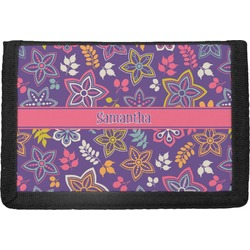 Simple Floral Trifold Wallet (Personalized)