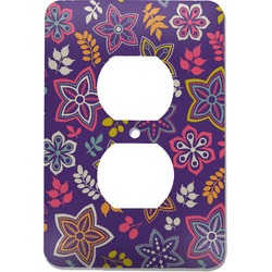 Simple Floral Electric Outlet Plate (Personalized)