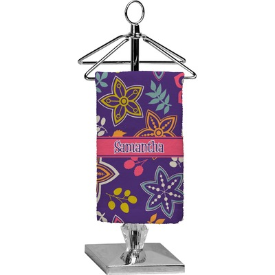 Simple Floral Finger Tip Towel - Full Print (Personalized)