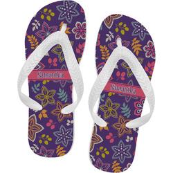 Simple Floral Flip Flops (Personalized)