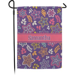 Simple Floral Garden Flag (Personalized)