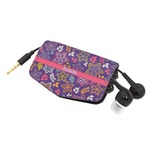 Simple Floral Genuine Leather Cord Wrap (Personalized)