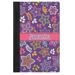 Simple Floral Genuine Leather Passport Cover (Personalized)