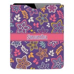 Simple Floral Genuine Leather iPad Sleeve (Personalized)