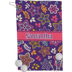 Simple Floral Golf Towel - Full Print (Personalized)
