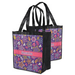 Simple Floral Grocery Bag (Personalized)
