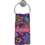 Simple Floral Hand Towel - Full Print (Personalized)
