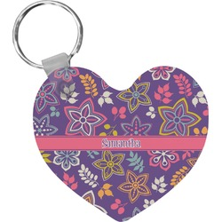 Simple Floral Heart Keychain (Personalized)