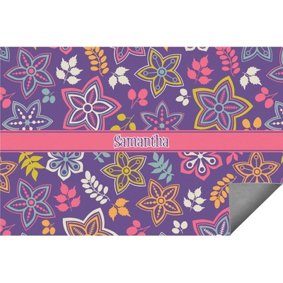 Simple Floral Indoor / Outdoor Rug (Personalized)