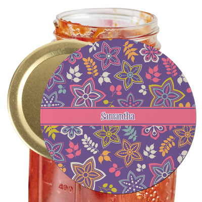 Simple Floral Jar Opener (Personalized)