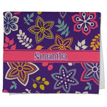 Simple Floral Kitchen Towel - Full Print (Personalized)