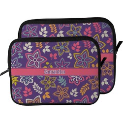 Simple Floral Laptop Sleeve / Case (Personalized)