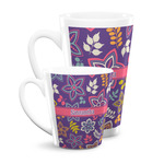 Simple Floral Latte Mug (Personalized)