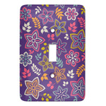 Simple Floral Light Switch Covers (Personalized)