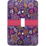 Simple Floral Light Switch Cover (Single Toggle) (Personalized)