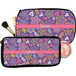 Simple Floral Makeup / Cosmetic Bag (Personalized)