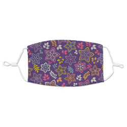 Simple Floral Adult Cloth Face Mask (Personalized)