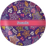 Simple Floral Melamine Plate (Personalized)